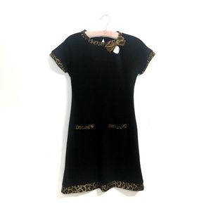Rinascimento Italy | Vintage Leopard Trim Dress